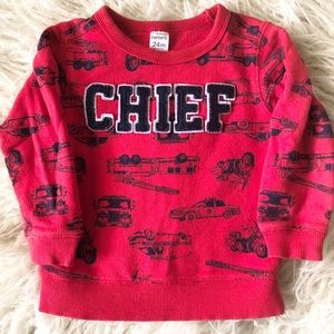 Toddler Boy Fire Truck Chief Sweatshirt